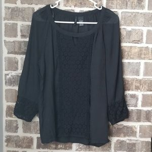 ❤New Direction Black Lace Top